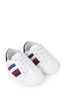 Baby Boys White Pre-Walker Trainers