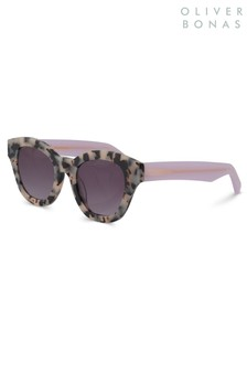 Oliver Bonas Animal London Milky Tortoiseshell Effect Sunglasses