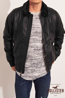 Hollister Black Aviator Jacket