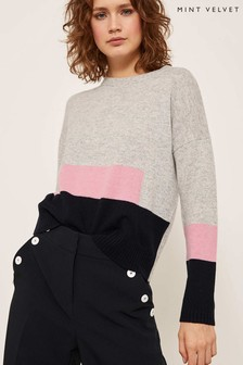 Mint Velvet Multi Colourblock Boxy Knit