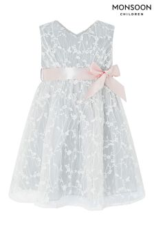 Monsoon Grey Baby Rosalie Dress