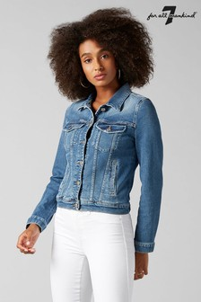 7 For All Mankind® Mid Blue Luxe Vintage Denim Jacket