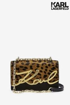 Karl Lagerfeld Leopard Signature Bag