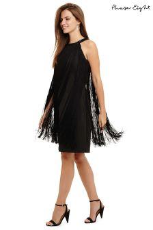 Phase Eight Black Katie Fringe Dress