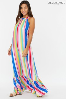 Accessorize Yellow Multi Stripe Maxi Dress