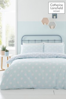 Catherine Lansfield Polka Dot Easy Care Bed Set