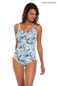 Fantasie White Fiji Underwire V-Neck Adjustable Leg Swimsuit