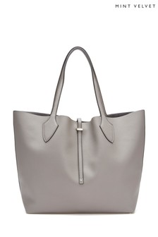 Mint Velvet Grey Cosima Simple Tote