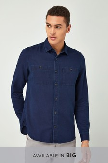 Textured Twin Pocket Shirt