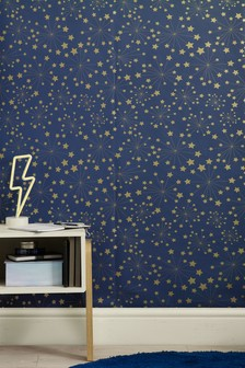 Metallic Stars Paste The Wall Wallpaper