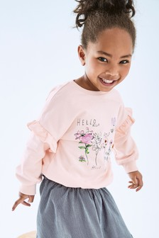 Floral Embroidered Sweatshirt (3mths-7yrs)