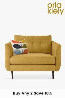 Orla Kiely Linden Snuggle Sofa With Walnut Feet