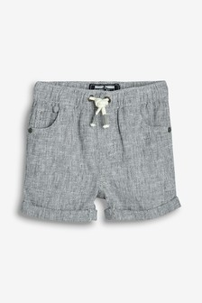 Pull-On Linen Blend Shorts (3mths-7yrs)