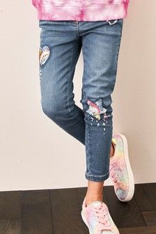 Sequin Detail Jeans (3-16yrs)