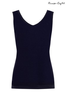 Phase Eight Blue Lou Linen Knitted Vest