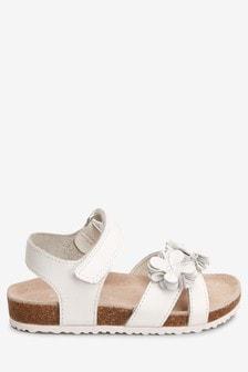 Sandalen mit Blume und Korksohle (Jünger)