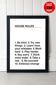 House Rules by Native State Framed Print