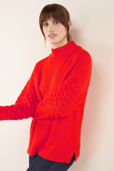 Bobble Sleeve Sweater