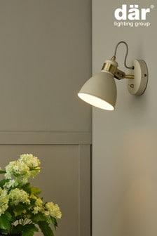 Dar Lighting Cream Frederick Single Spotlight