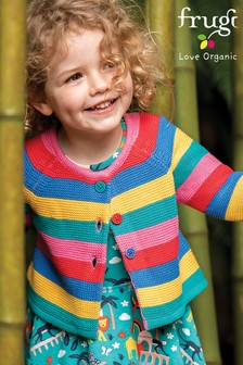 Frugi Organic Cotton Rainbow Stripe Cardigan
