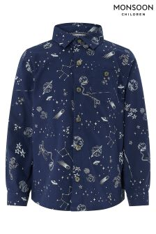 Monsoon Navy Samuel Saturn Print Shirt