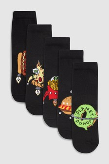 Space Fast Food Socks Five Pack (Older)