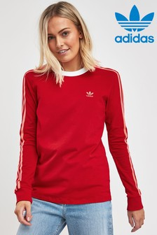 adidas Originals 3 Stripe Long Sleeved Tee