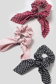 HotSquash Bow Scrunchies 3 Pack