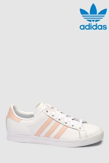 adidas Originals White/Pink Coast Star Trainers