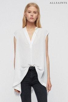 AllSaints White Avee Blouse