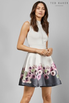 Ted Baker Ivory Floral Skater Dress