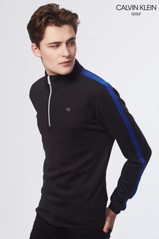 Calvin Klein Golf Black Verve Performance Half Zip Jumper
