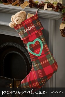 Personalised Christmas Tartan Stocking