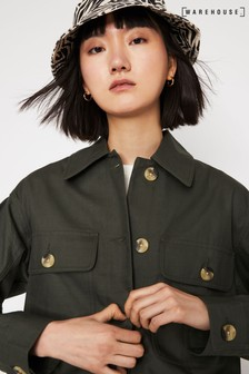 Warehouse Khaki Soft Boxy Jacket