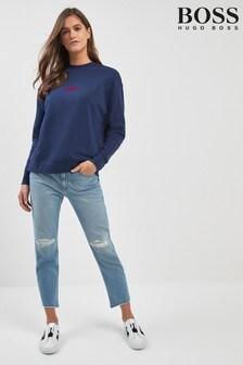 Светло-синие джинсы прямого кроя BOSS J30