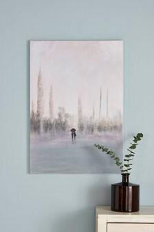 Couple In The Rain Canvas