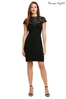 Phase Eight Green Ursula Lace Shimmer Knitted Dress