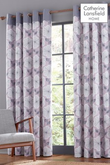 Catherine Lansfield Retro Floral Eyelet Curtains