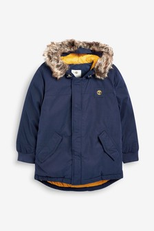 Timberland® Navy Hooded Parka