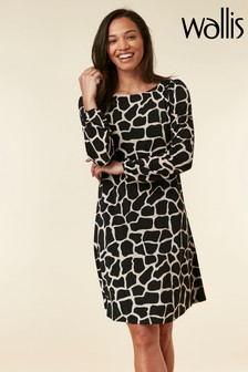 Wallis Natural Stone Giraffe Swing Dress