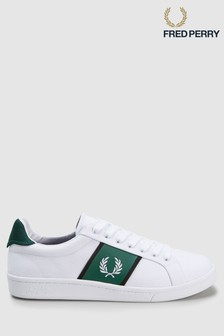 Fred Perry White Canvas Tricot Trainer