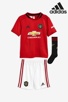 adidas Red Manchester United FC 2019/20 Home Mini Kit
