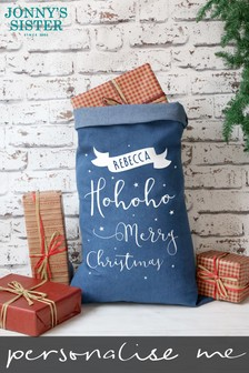 Personalised Denim Xmas Sack by Jonny's Sister