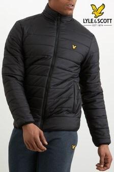 Lyle & Scott Sport Black Lloyd Padded Jacket