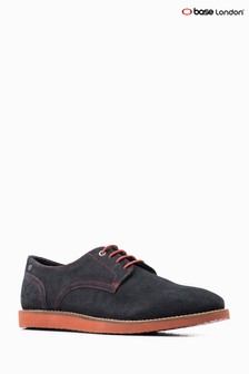 Base London® Navy Suede Iris Lace-Up Shoe