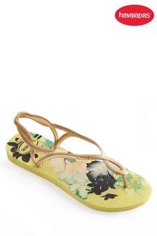 Havaianas® Yellow Floral Luna Flip Flop
