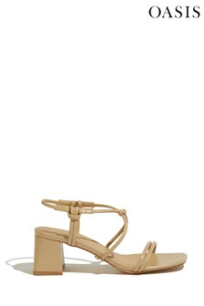Oasis Light Neutral Willow Knotted Sandals