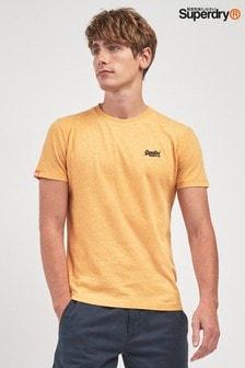Желтая футболка с логотипом Superdry