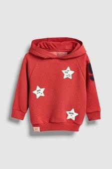 Sudadera con capucha con emblema de estrella (3 meses-7 años)