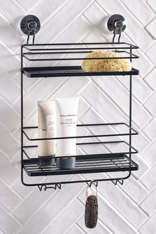 Suction 2 Tier Bathroom Shelves